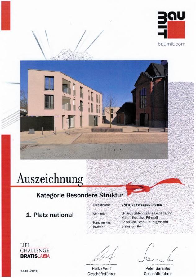 Carl Seher Stuckgeschäft Urkunde